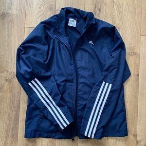 Navy blue adidas track jacket